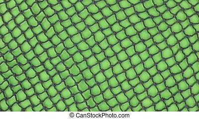 Close-up, of the rotation of a fishing net. Isolated on...