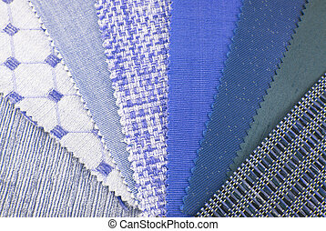 close up of the upholstery texture samples