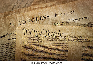 Close-up of the U.S. Constitution