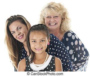 Close-up of Three Generations