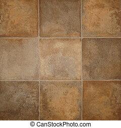 tile effect vinyl floor covering - Close up of tile effect...