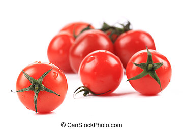 Close up of tomatoes bunch.