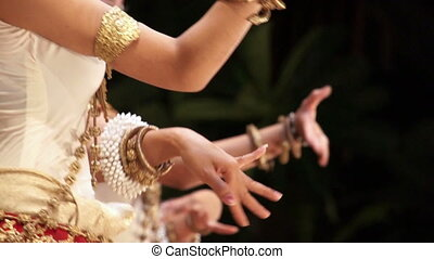 Apsara dance - Close up of traditional Khmer Cambodian...