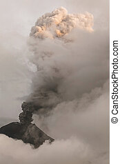 Close-Up Of Tungurahua Volcano Eruption