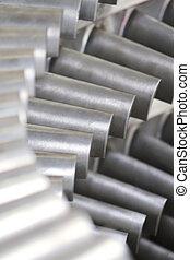 Close up of turbine blades