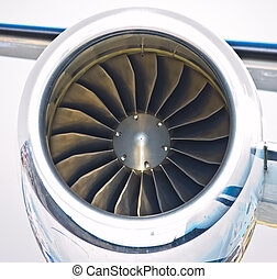 close up of turbo jet of aircraft