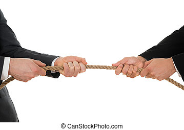 Two Businessman Pulling Rope