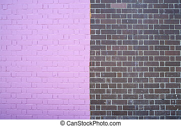 two color brick wall texture background