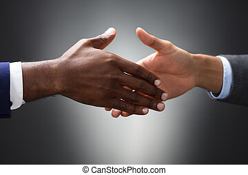 Close-up Of Two People Shaking Hands