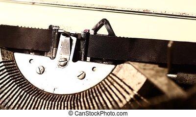 Typewriter - Close up of Typewriter