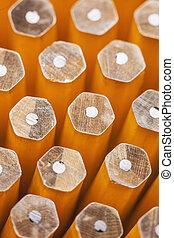 Close-up of Unsharpened Pencils