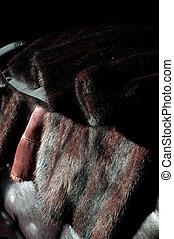 close up of unused mink coats