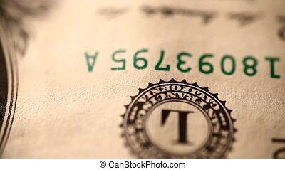US dollar  - Close up of US dollar