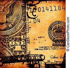 Close up of US dollar