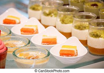 sweet dessert - close up of various sweet dessert
