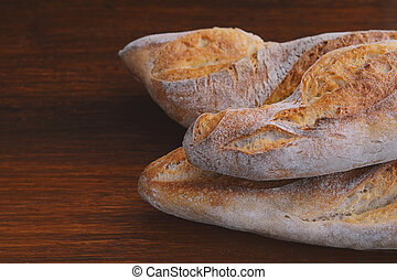 Close up of various types of bread