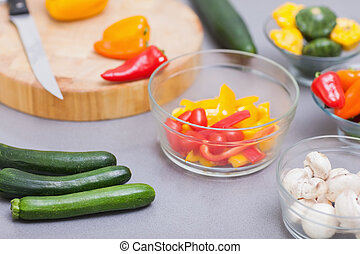 Close up of various vegetables