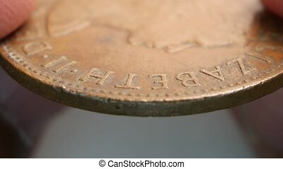 Close up of very old coins - Coins From Various Countries