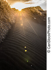 Close-up of Vestrahorn black sand, Iceland