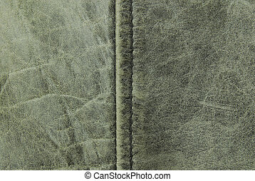 vintage leather seam te - close up of vintage leather seam...