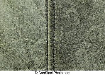 vintage leather seam te - close up of vintage leather seam...
