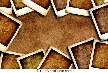 Vintage Polaroid frame - Close up of Vintage Polaroid frame