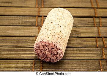 Close-up of vintage wine cork