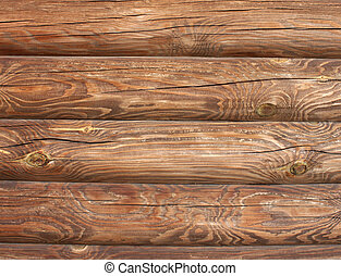 wall of wooden house