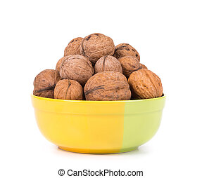 walnuts bunch in bowl