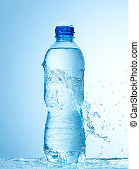 close up of water bottle