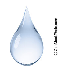 water drop - close-up of water drop isolated on white