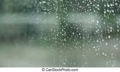 Close-up of water droplets on glass