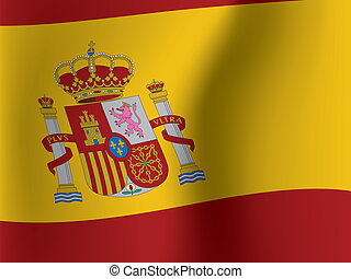 waved flag of Spain
