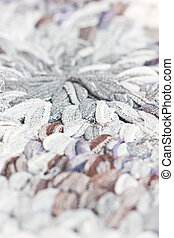 Close up of weave fabric textile.