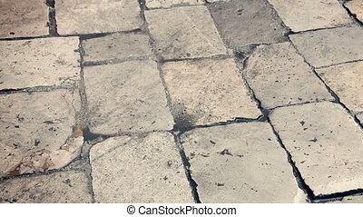 Close-up of wet pavement