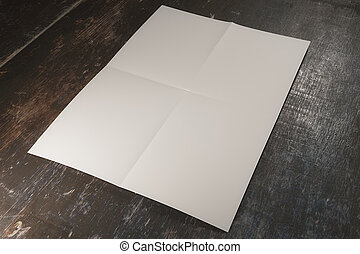 white paper on wooden surface