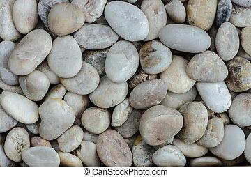 close-up of white stones.