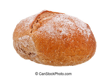 Wholemeal bread isolated on white. - Close up of Wholemeal ...