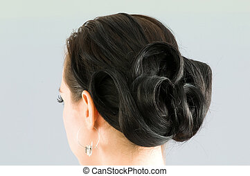 Close up of woman hair cut