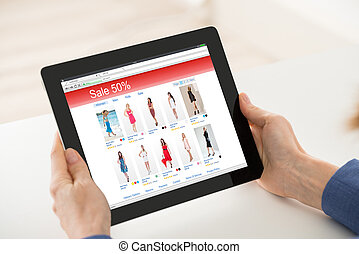 Woman Hand Shopping Online On Digital Tablet