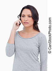 Close up of woman on her cellphone