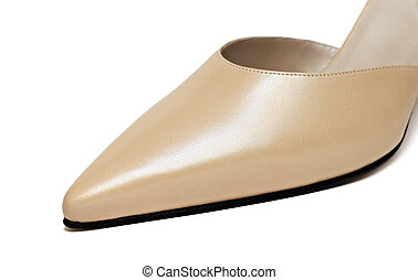 Close up of woman shoe