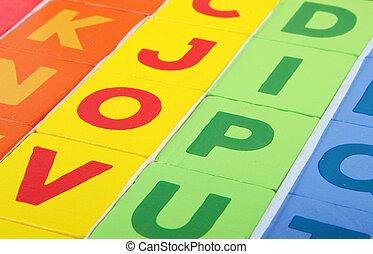 Close-Up Of Wooden Alphabet Blocks