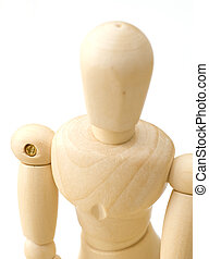 Close up of Wooden Dummy