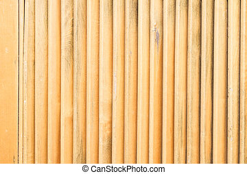 Close up of wooden fence panels