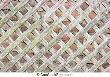 Wooden Lattice Background - Close Up of Wooden Lattice...