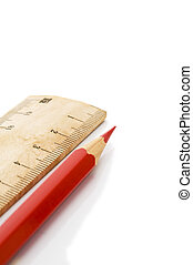 ruler and red pencil
