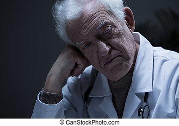 Close-up of worried man