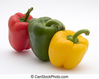 yellow green and red pepper