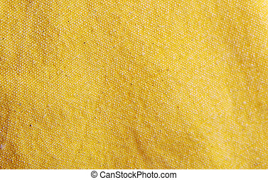 Close-Up Of Yellow Textile Background
